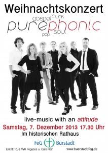 20131207 purephonic Konzert Flyer Front für web