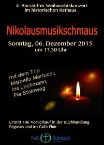2015 Weihnachtskonzert Vorderseite A6
